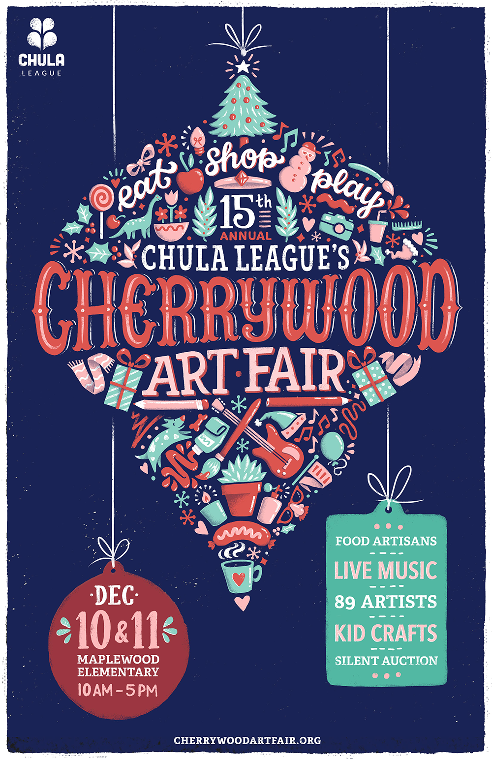 Cherrywood Art Fair Poster Illustration