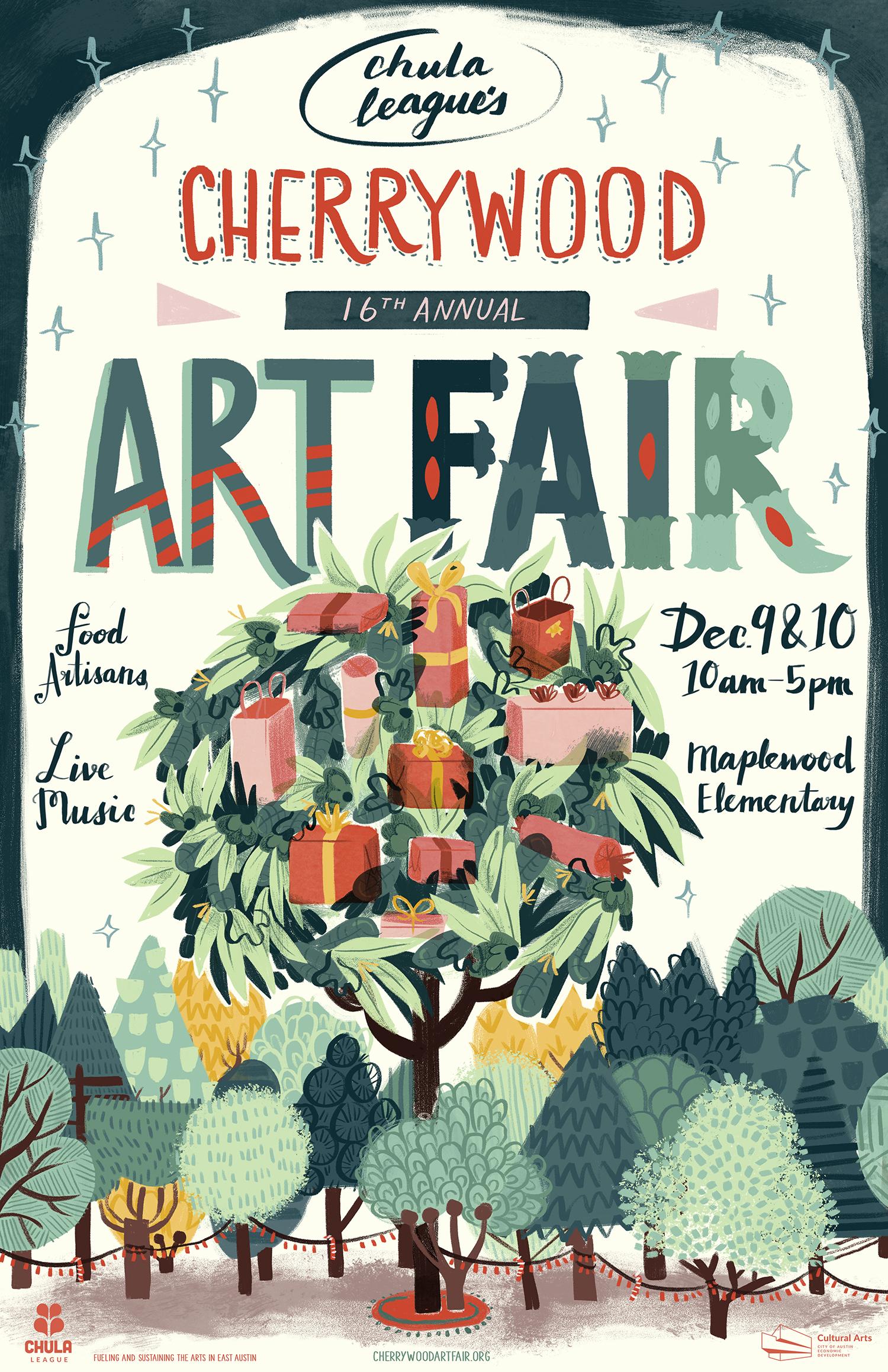 Cherrywood Art Fair Poster Illustration