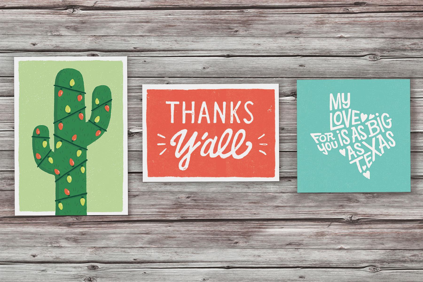 Texas born wed chula league cherrywood art fair various greeting cards 4 color printing premium paper 4x6 5x7 m4hsunfo